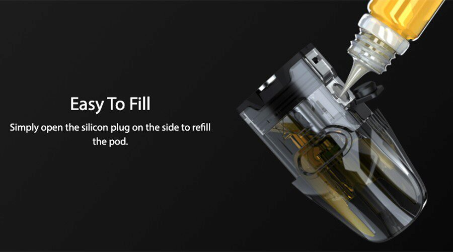Compatible with a wide range of e-liquids, the EVIO pods are easy to refill and can each hold up to 2ml of e-liquid.