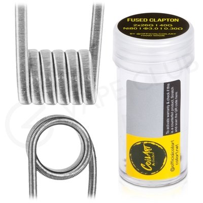 0.3 Ohm Coil Art Handmade Fused Clapton Coils