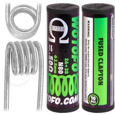 0.5 Ohm Wotofo Pre Built Fused Clapton Vape Coils