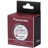 0.2 Ohm Diamond Mist Staple Staggered Premade Clapton Coils