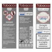 Straight Tobacco E-Liquid by Dinner Lady 50/50