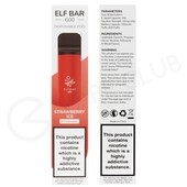 Strawberry Ice Elf Bar Disposable Vape