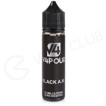 Black AM 50ml Shortfill by V4 V4POUR