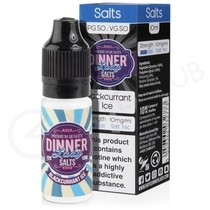 Blackcurrant Ice Nic Salt E-Liquid by Dinner Lady