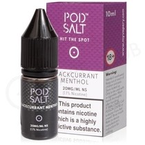 Blackcurrant Menthol Nic Salt E-Liquid by Pod Salt