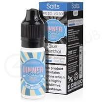 Blue Menthol Nic Salt E-Liquid by Dinner Lady