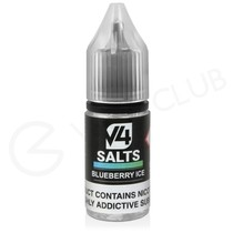 Blueberry Ice Nic Salt E-Liquid by V4 VAPOUR
