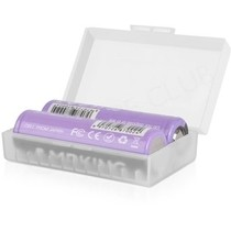 Dual 20700 / 21700 Vape Battery Case (Clear)
