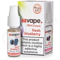 Fresh Blueberry E-Liquid by 88Vape