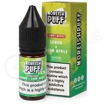 Lemon & Sour Apple Candy Drops Nic Salt E-Liquid by Moreish Puff