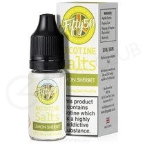 Lemon Sherbet Nic Salt E-Liquid by Fifty 50