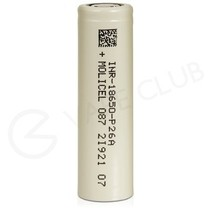 Molicel 18650 Rechargeable Vape Battery (2600mAh 25A)