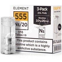 NS20 & NS10 555 Tobacco E-Liquid Pod by Element