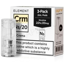 NS20 & NS10 Crema E-liquid Pod By Element