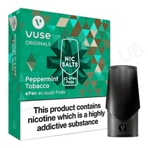 Peppermint Tobacco ePen Nic Salt Prefilled Pod by Vuse