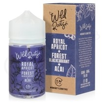 Royal Apricot, Forest Blackcurrant & Acai Shortfill E-Liquid by Wild Roots 50ml