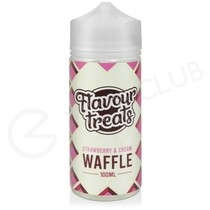 Strawberry & Cream Waffle Shortfill E-Liquid by Flavour Treats 100ml