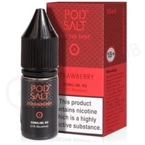 Strawberry Nic Salt E-Liquid by Pod Salt