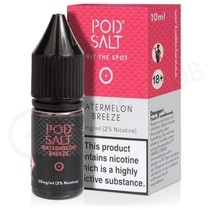 Watermelon Breeze Nic Salt E-Liquid by Pod Salt