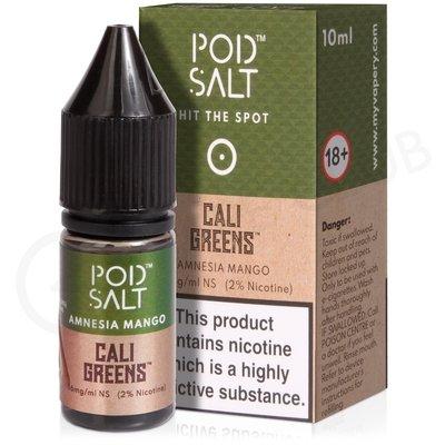 Amnesia Mango Nic Salt E-Liquid by Pod Salt & Cali Greens