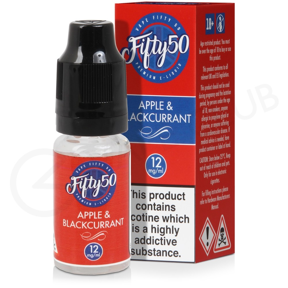 Apple & Blackcurrant eLiquid by Fifty 50