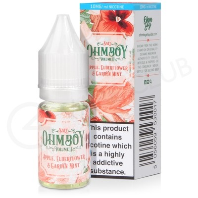 Apple, Elderflower & Garden Mint Nic Salt E-liquid by Ohm Boy Volume II