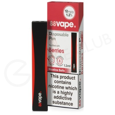 Berries 88Vape Disposable Device