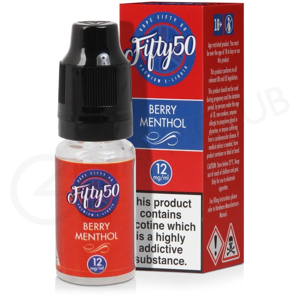 Berry Menthol eLiquid by Fifty 50