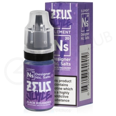 NS20 Black Reloaded Nic Salt eLiquid by Zeus Juice