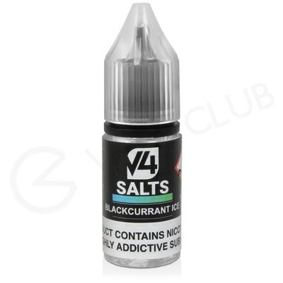 Blackcurrant Ice Nic Salt E-Liquid by V4 VAPOUR