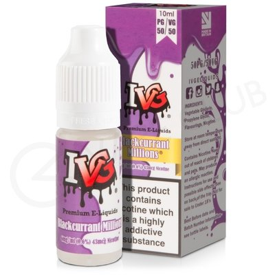 Blackcurrant Millions eLiquid by I VG 50/50