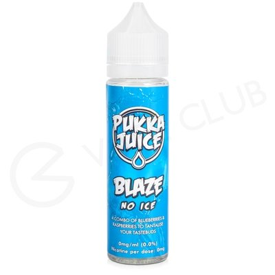 Blaze No Ice Shortfill by Pukka Juice 50ml