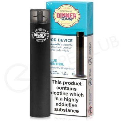 Blue Menthol Dinner Lady Disposable Device