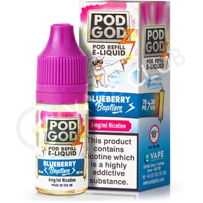 Blueberry Baptism eLiquid by Pod Godz