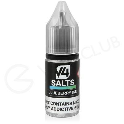 Blueberry Ice Nic Salt E-Liquid by V4 VAPOUR