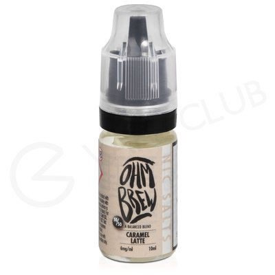Caramel Latte eLiquid by Ohm Brew 50/50 Nic Salts