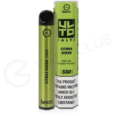 Citrus Seven XL Beco Bar ULTD Disposable