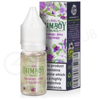 Cranberry, Apple & Raspberry Nic Salt eLiquid by Ohm Boy Volume II