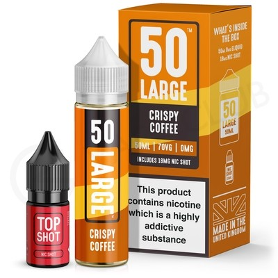 Crispy Coffee 50ml Shortfill by 50 Large