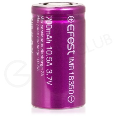 Efest IMR 18350 Rechargeable Vape Battery (700mah, 10.5A)