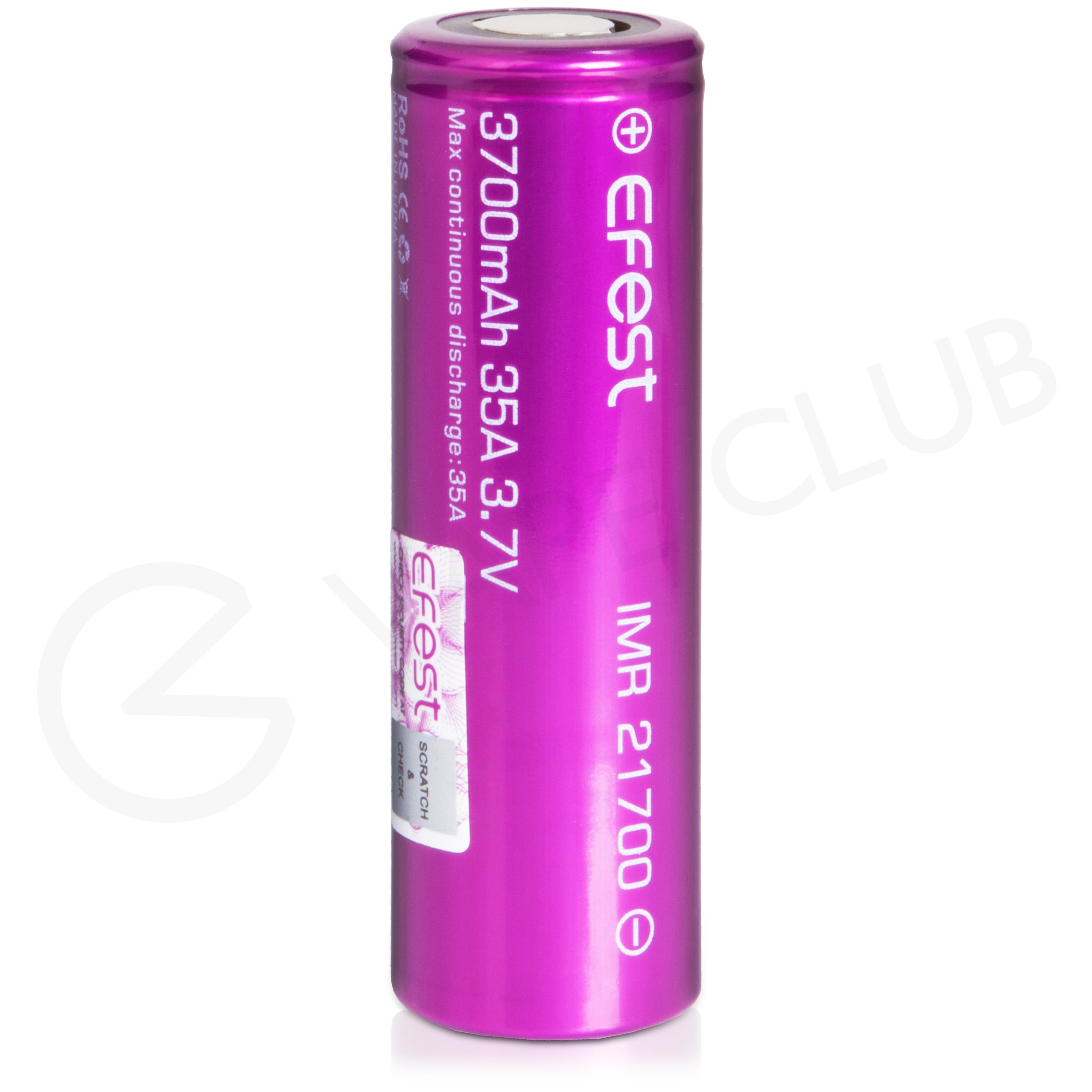 Efest IMR 21700 Rechargeable Vape Battery (3700mAh, 35A)