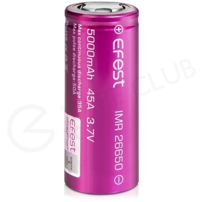 Efest IMR 26650 Rechargeable Vape Battery (5000mAh, 45A)