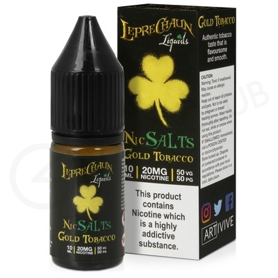 Gold Tobacco Nic Salt E-Liquid by Leprechaun Liquids