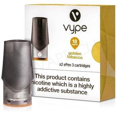 Golden Tobacco ePen 3 Prefilled Vape Pod by Vype