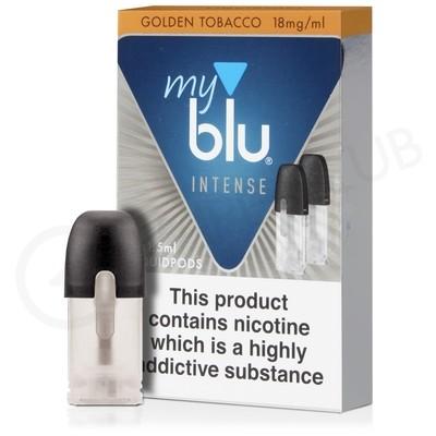 Golden Tobacco Nic Salt E-Liquid Pod by MyBlu Intense