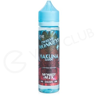 Hakuna Iced eLiquid by Twelve Monkeys Vapor 50ml