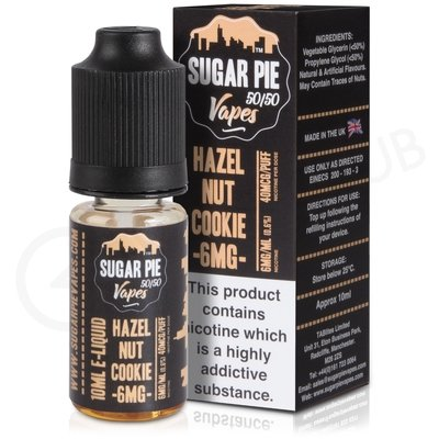 Hazelnut Cookie eLiquid by Sugar Pie Vapes 50/50