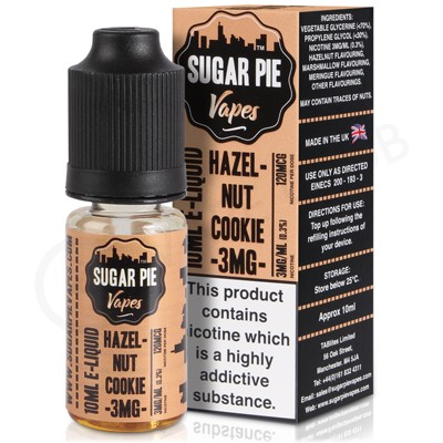 Hazelnut Cookie eLiquid by Sugar Pie Vapes