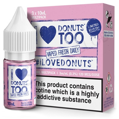 I Love Donuts Too E-Liquid by Mad Hatter E Juice
