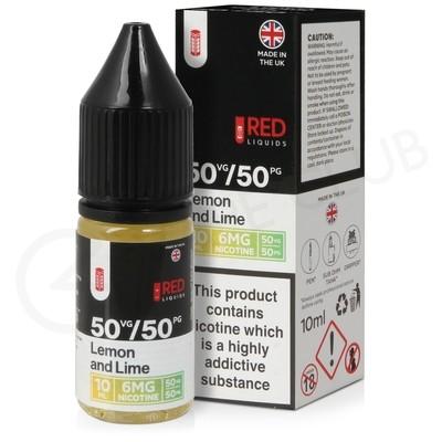 Lemon and Lime E-Liquid by Red Liquid 50/50